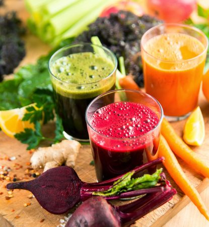 3 fresh juices beet and carrot